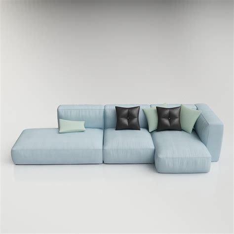 modular living room furniture 3d hay mags modular sofa high quality 3d models