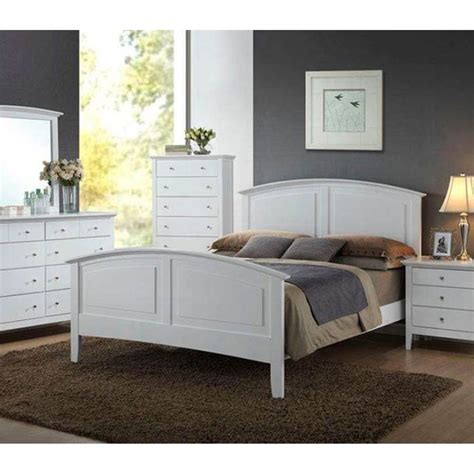 contemporary whiskey white finish pc full size bed