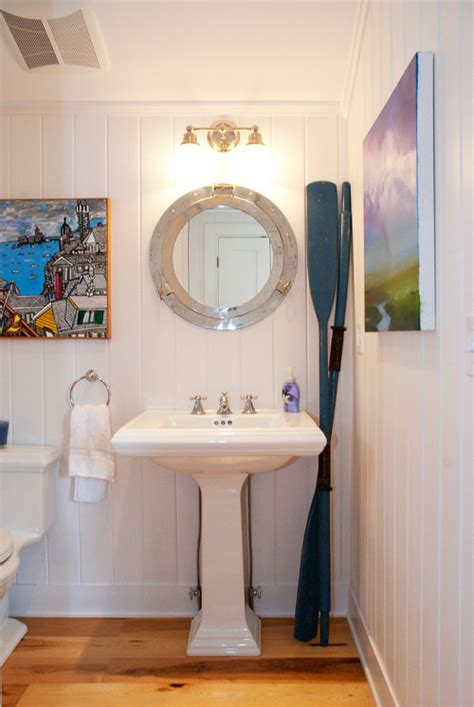nautical bathroom mirror decor stylishbeachhome the versatile nautical oar