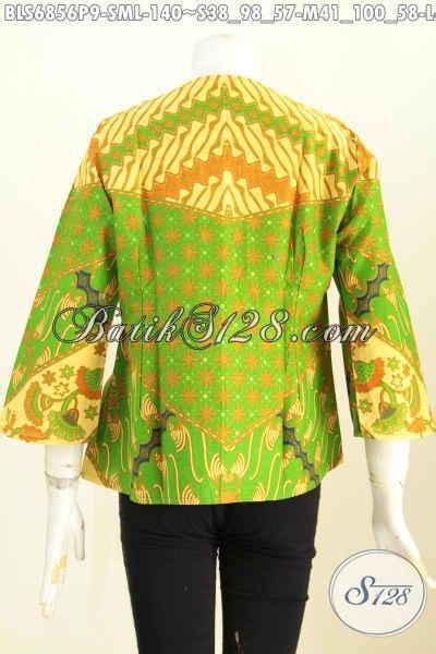 blus batik warna bagus motif mewah dan elegan proses