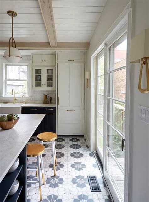 navy kitchen island  white counter stools