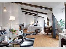 Jak urządzić sypialnię z salonem ze skosami? zdjęcie w
