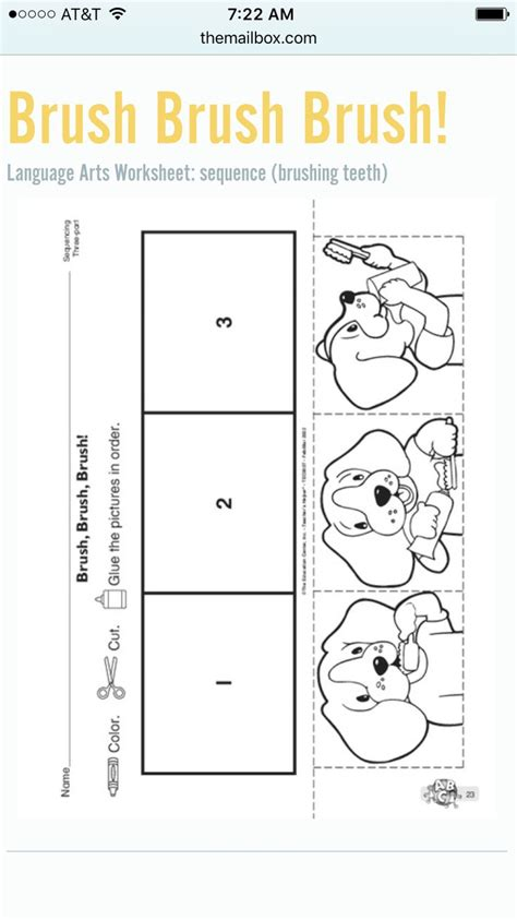 how to brush your teeth sequencing vpk ideas 504 | 991a4af9e48db89384b236732c68bce2 preschool worksheets kindergarten writing