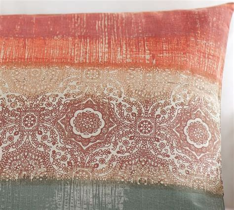 Beaded Ombre Pillow Cover Pottery Barn Living Room by Ombre Print Lumbar Pillow Cover Pottery Barn
