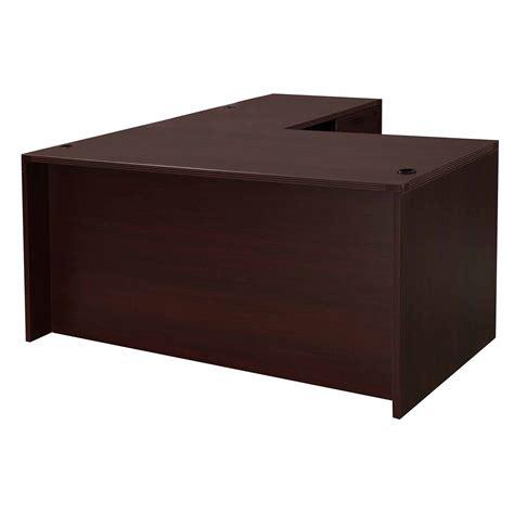used l shaped desk dmi l shape used desk laminate right return mahogany