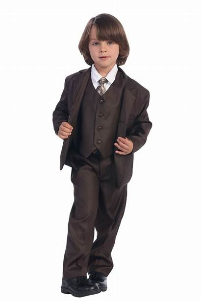 Boys Brown Suit Chocolate Piece Breasted Single