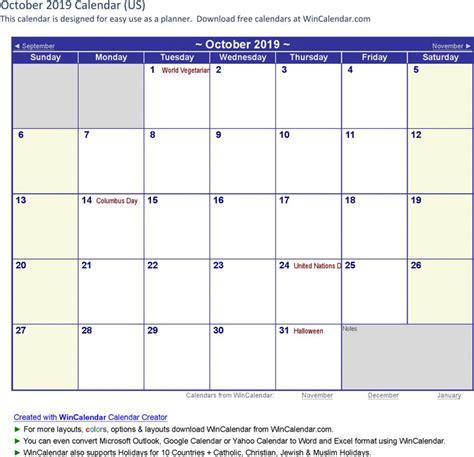 2019 calendar template word october 2019 calendar free premium templates forms sles for jpeg png pdf