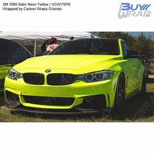 3M Satin Neon Yellow Wrap