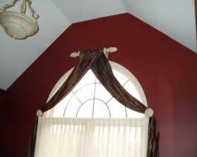 arched curtain rod arch window curtains to choose depend