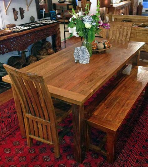 Teak Dining Table 3 Foot X 6 Foot With 4 Legsimpact Imports