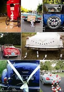 Decoration Voiture Mariage : avez vous pens la d co de la voiture le blog organiser un mariage deco voiture ~ Preciouscoupons.com Idées de Décoration