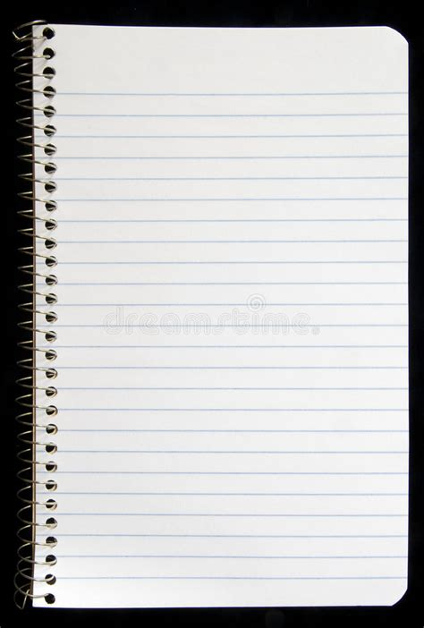 blank page  spiral notebook stock image image  write