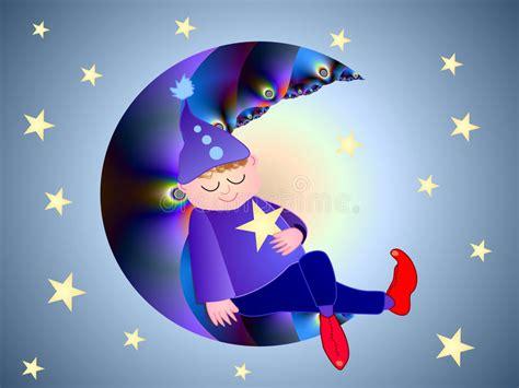 Petit Dormeur by Le Petit Dormeur De Lune Illustration Stock Illustration