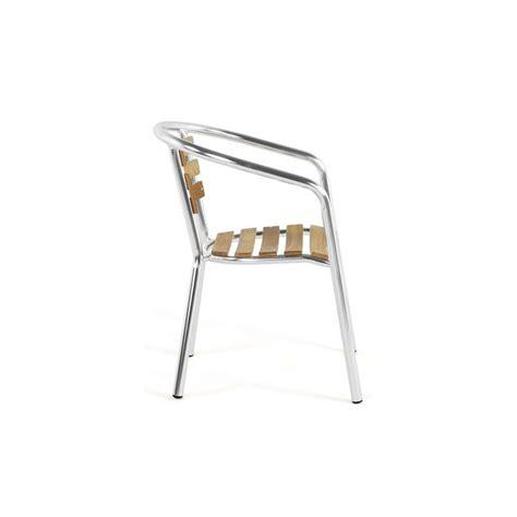 chaise aluminium exterieur chaise de jardin aluminium bois