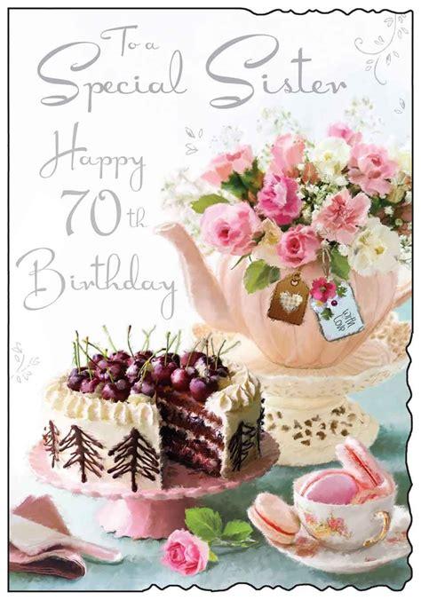jonny javelin birthday sister  card teapot cake