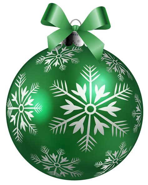 Large Green Christmas Ball Png Clipart Picture Gallery