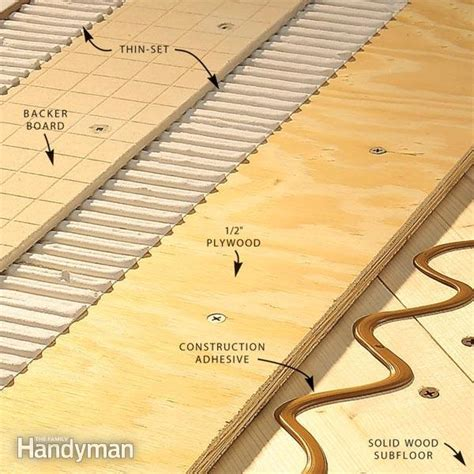 subfloor for tile how to install tile backer board on a wood subfloor the