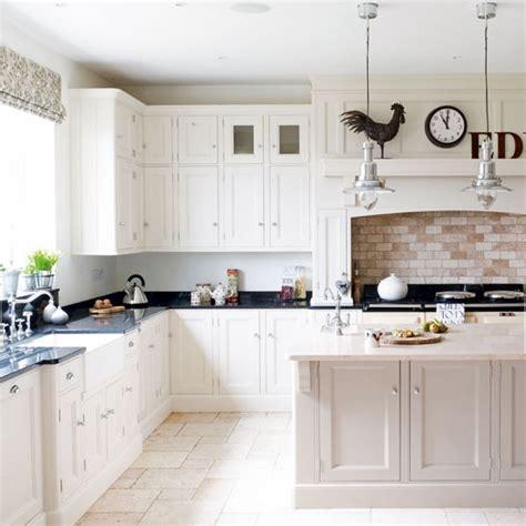 white kitchen  country styling white kitchens
