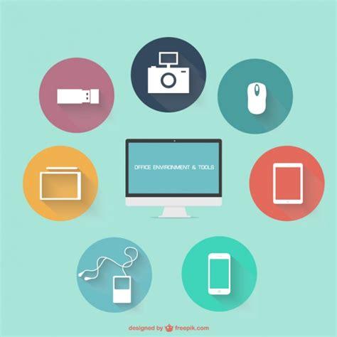 icones bureau gratuits icônes de bureau plat télécharger des vecteurs