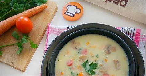 Klik di sini untuk menyaksikan tayangan video resep ini! 250 resep sup krim jamur enak dan sederhana - Cookpad
