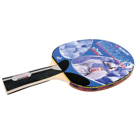 butterfly werner schlager silver table tennis bat sweatbandcom