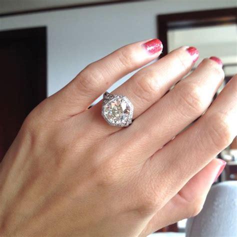 my art deco antique cushion engagement ring weddingbee