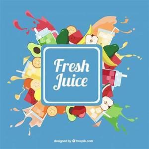 Fresh juice background Vector | Free Download