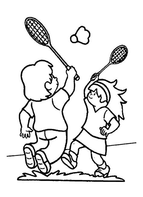 Kleurplaat Badminton sport badminton kleurplaat
