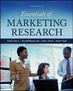 Test Bank For Essentials Of Marketing Research  Irwin