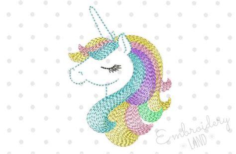 Decorative Kitchen Ideas - beautiful unicorn machine embroidery design by embroideryland embroideryland
