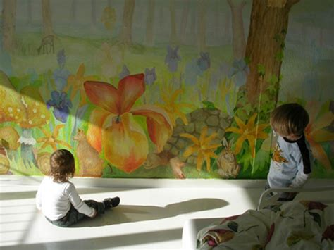 Kinderzimmer Wandgestaltung Wald Gerakacehinfo