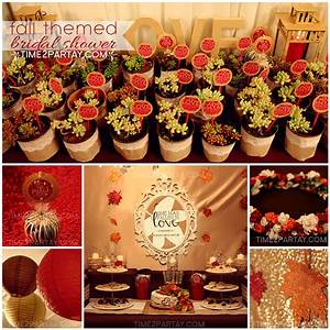 a fall themed bridal shower time2partaycom With fall wedding shower themes