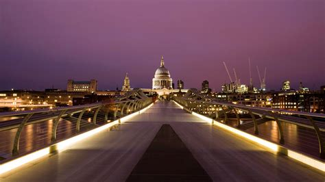 millennium bridge london cityscape wallpaper