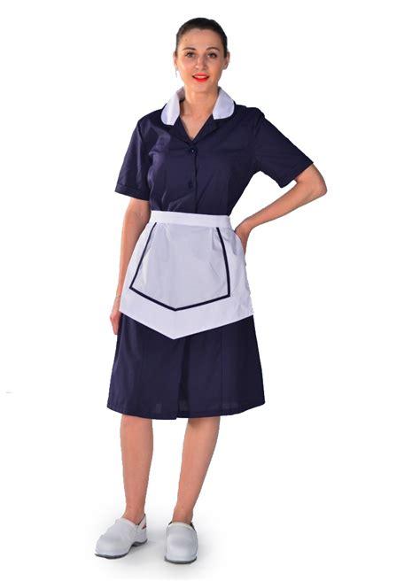 blouse femme de chambre hotellerie blouse femme de chambre à manches courtes bleu nuit carlton