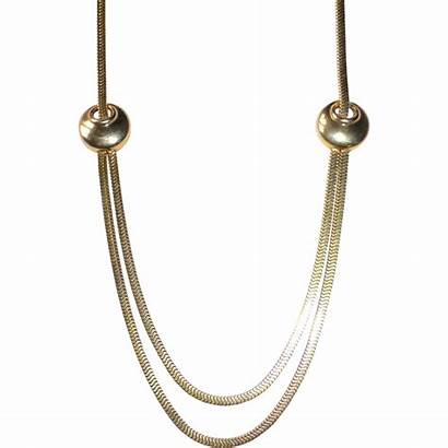 Chain Gold Square Deco Necklace Swag Filled