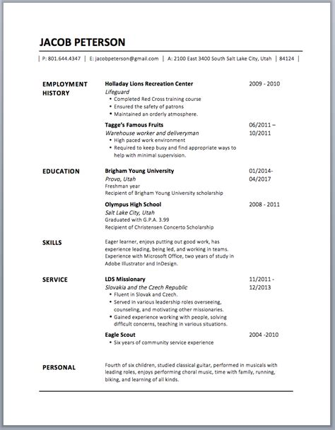 Contact Resume by How To Design A Resume In Microsoft Word And Other Design Tips Peterson Studio