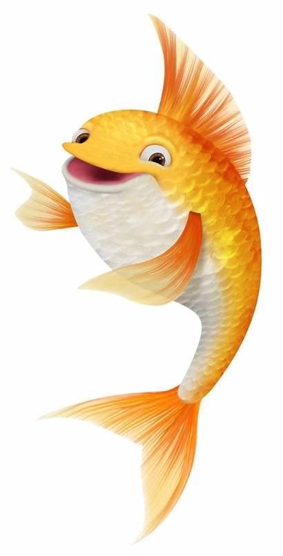 Fish Clipart Pretty Goldfish Cliparts Fundo Poissons