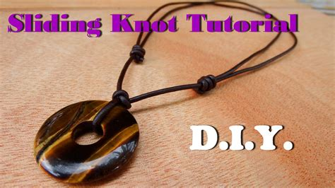 pendant string bracelet how to make a sliding knot necklace leather cord with