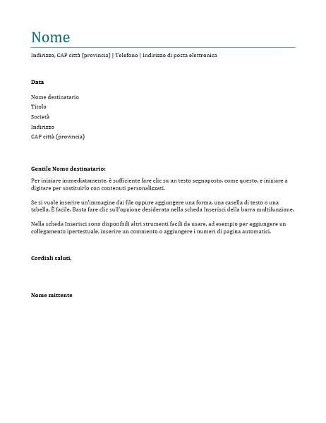 lettera  presentazione curriculum esempio itcapsov