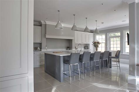 Country Kitchen With Island - bespoke kitchens uk handmade kitchens from stonehouse