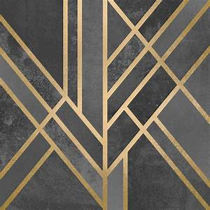 Art deco geometry i canvas wall art by elisabeth for What kind of paint to use on kitchen cabinets for art deco wall clocks for sale