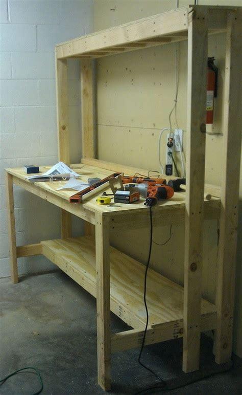 build  workbench   garage   organized