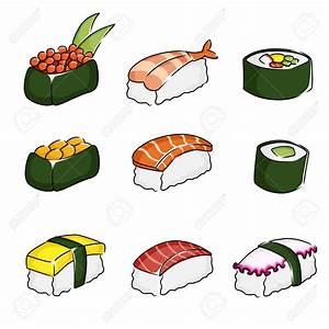 sushi drawing - Google Search | Sushi Pattern Design ...