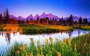 Summer Sunrise At Teton National Park Hd Wallpaper 36214 ...