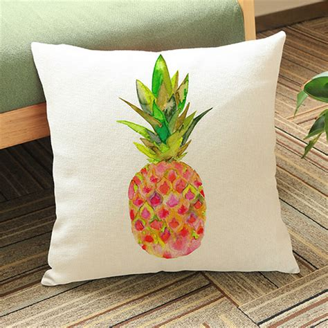 chaise jaune moutarde pineapple decoration cushion covers pillow cotton