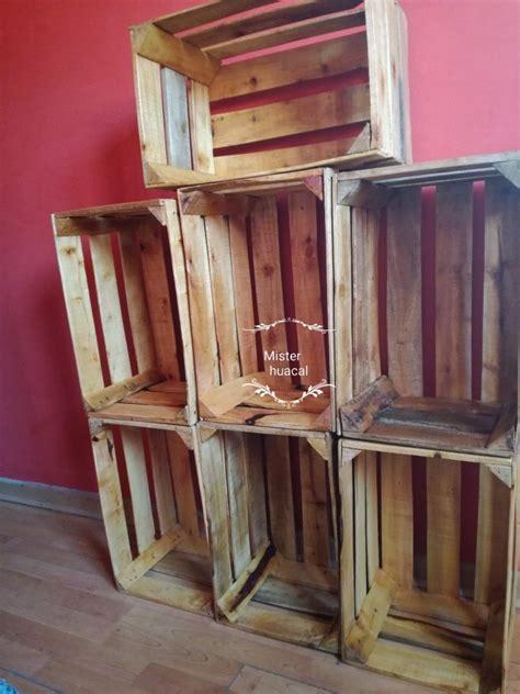 huacales de madera lijados  pintados  en