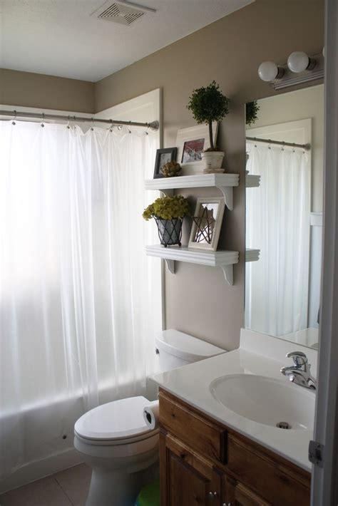 ideas  small bathroom shelves  pinterest