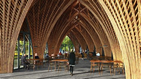 vtn architects intricately arched restaurant  xiamen