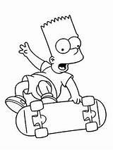 Coloring Cartoon Simpson Dibujos Bart Colorear sketch template