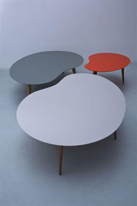 bureau sentou table basse lalinde haricot l 130cm pieds bois